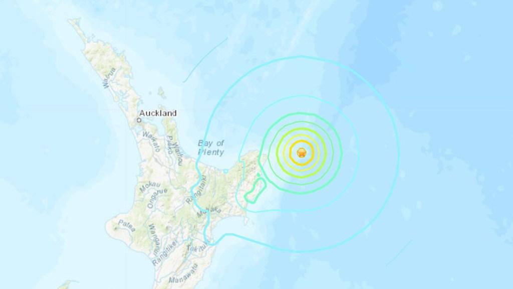 Activan alerta de tsunami en Nueva Zelanda por sismo magnitud 7.3 - Sismo en Nueva Zelanda que activó alerta de tsunami. Foto de USGS