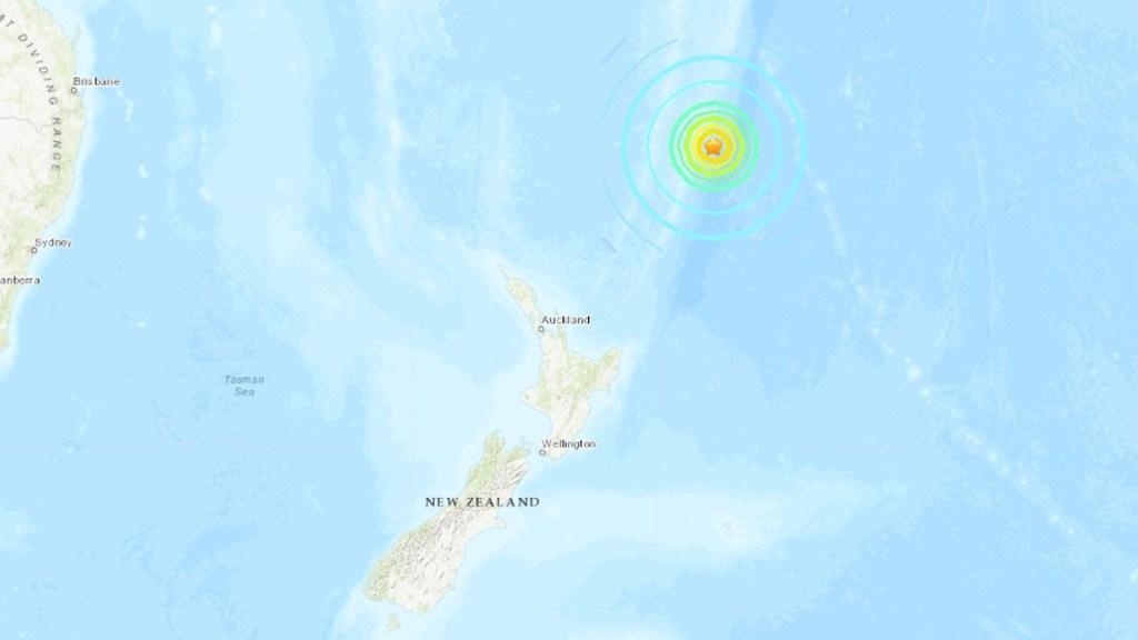 Nuevo sismo magnitud 8 cerca de Nueva Zelanda activa alerta de tsunami para Hawái - Sismo magnitud 8 cerca de Nueva Zelanda. Foto de USGS
