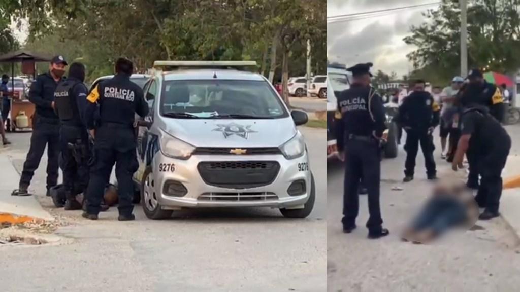 Crece indignación en redes sociales por brutalidad policial y muerte de mujer en Tulum - Imágenes del abuso de la Policía de Tulum, Quintana Roo.