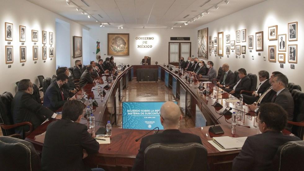 Gobierno de México y sectores empresarial y laboral alcanzan acuerdo sobre subcontratación - Acuerdo trabajadores México subcontratación empleo