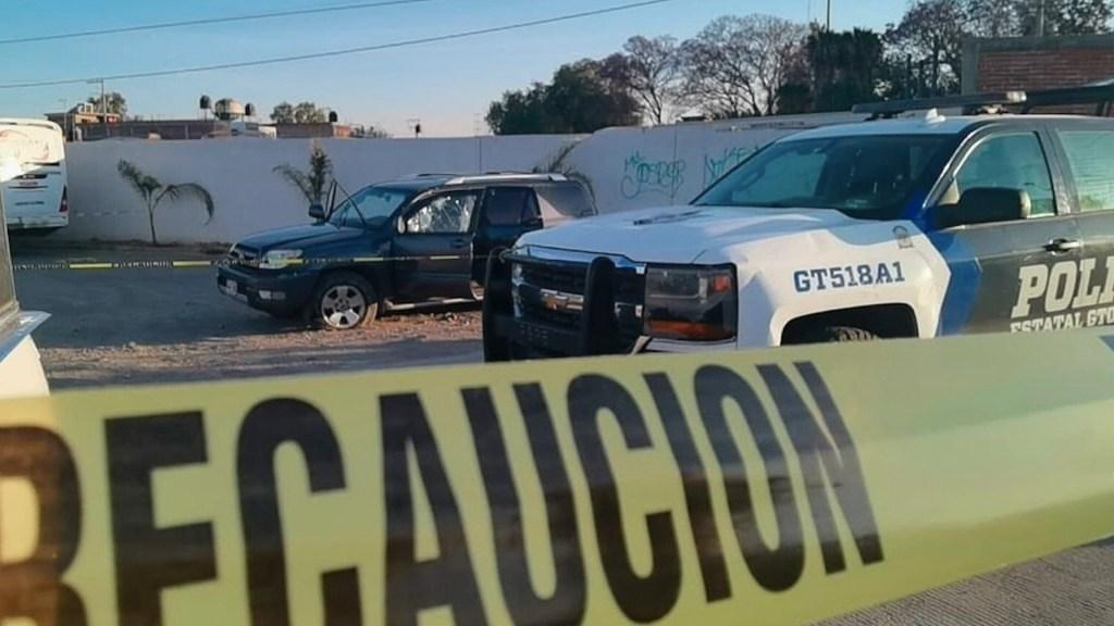 Enfrentamiento armado deja en Irapuato, Guanajuato, dos policías y tres presuntos delincuentes muertos - Agresión armada en Irapuato, Guanajuato. Foto de EFE