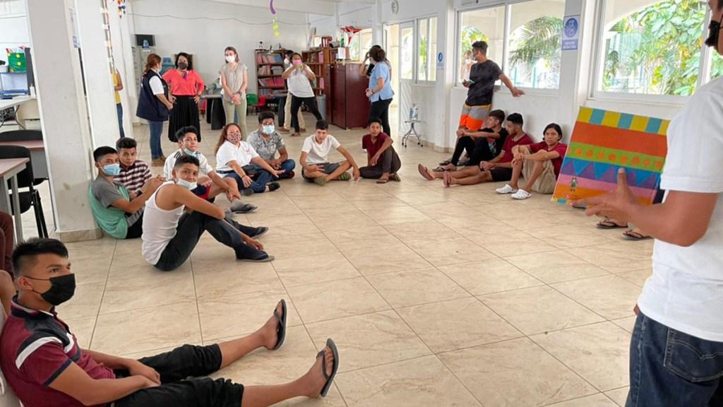 Instalarán 17 albergues en frontera sur para migrantes menores de edad - Albergue para migrantes menores de edad en frontera sur de México. Foto de @DIF_NMX