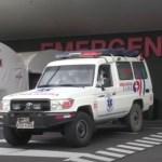 Saturación hospitalaria en Ecuador por COVID-19 - Ambulancia Ecuador. Foto de EFE