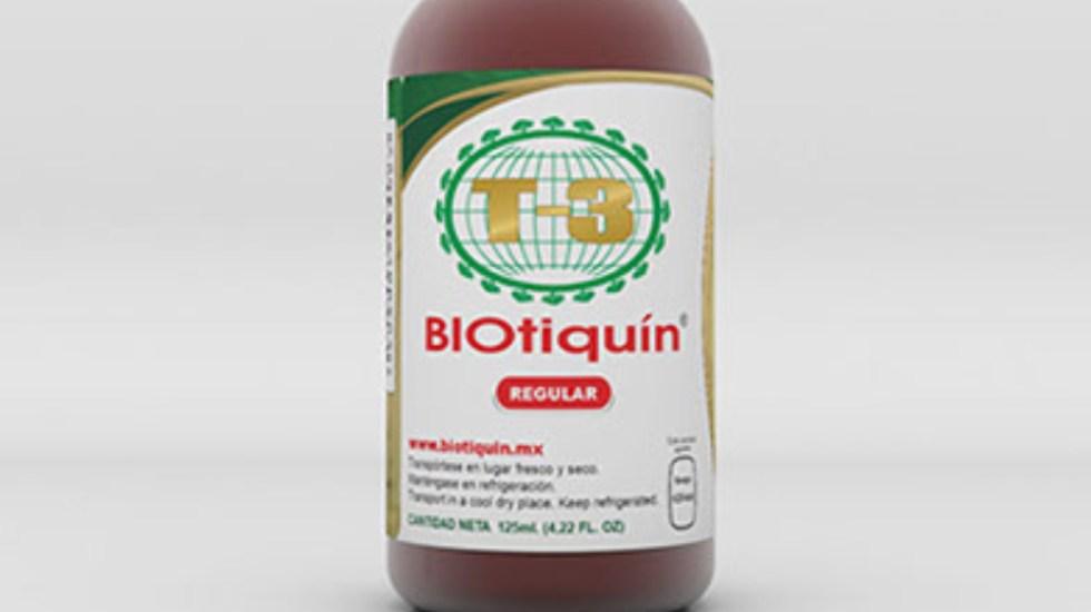 """Cofepris alerta por """"Biotiquín"""", supuesto producto 'milagro' contra COVID-19 - Biotiquín"""