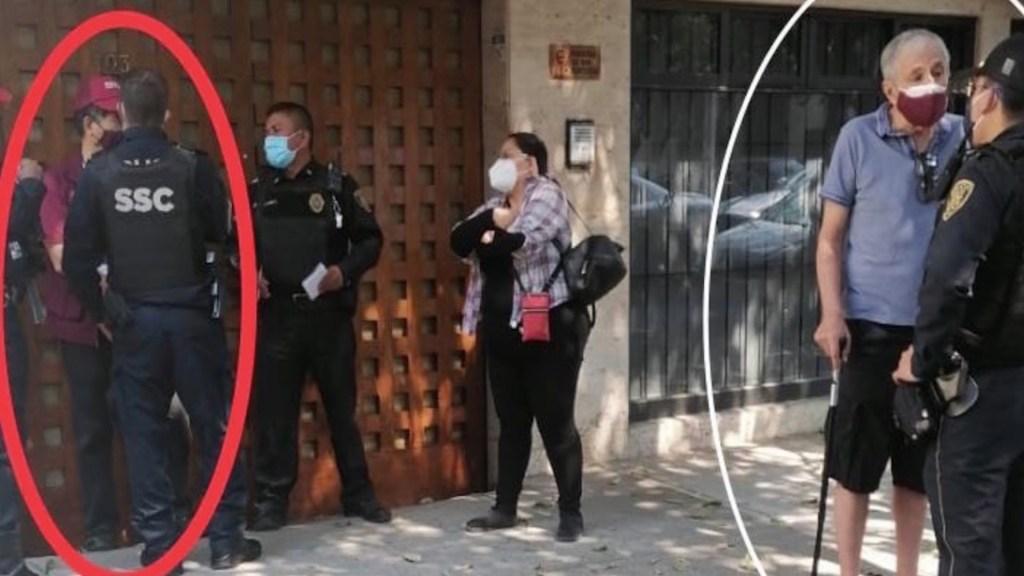 Presunto brigadista de Morena golpea a adulto mayor en Benito Juárez - Presunto brigadista de Morena golpea a adulto mayor en Benito Juárez. Foto de @C4Jimenez