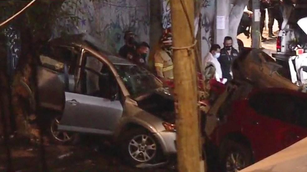 #Video Carambola en Xochimilco deja tres muertos - Carambola en la alcaldía Xochimilco. Captura de pantalla / Noticieros Televisa