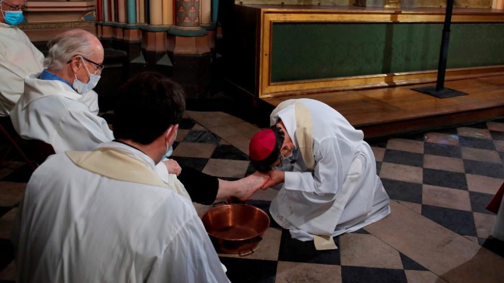 Notre-Dame celebra lavatorio del Jueves Santo sin público y en obras - Catedral Notre-Dame Jueves Santo Paris Francia