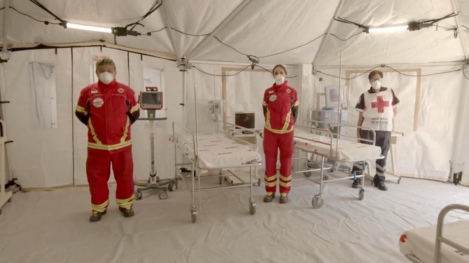 Atención a pacientes de COVID-19. Foto de INEr Cruz Roja