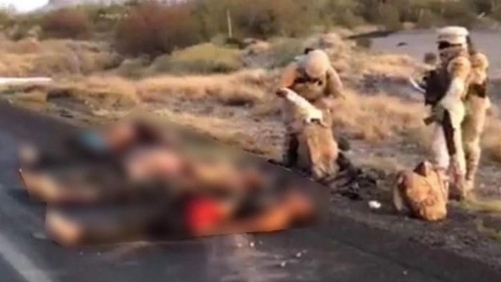 Localizan cinco cuerpos y un herido en carretera de Sonora - Localizan cuerpos de cinco personas ejecutadas. Foto de UniRadio Noticias