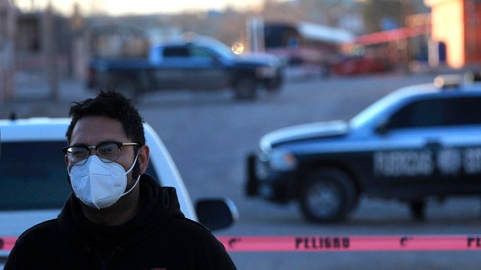 Suman 81 mil 415 homicidios dolosos en lo que va del sexenio - Escena del crimen en Ciudad Juárez, Chihuahua. Foto de EFE / Archivo