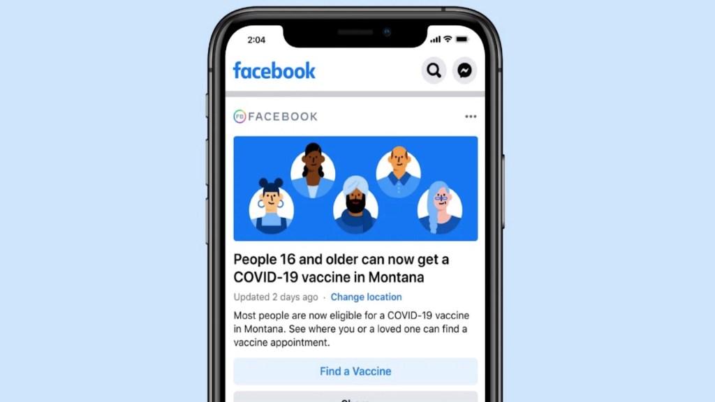 Facebook informará dónde aplicarse vacuna contra COVID-19 - Facebook mostrará a usuarios dónde está disponible la vacuna contra el COVID-19. Foto de Facebook