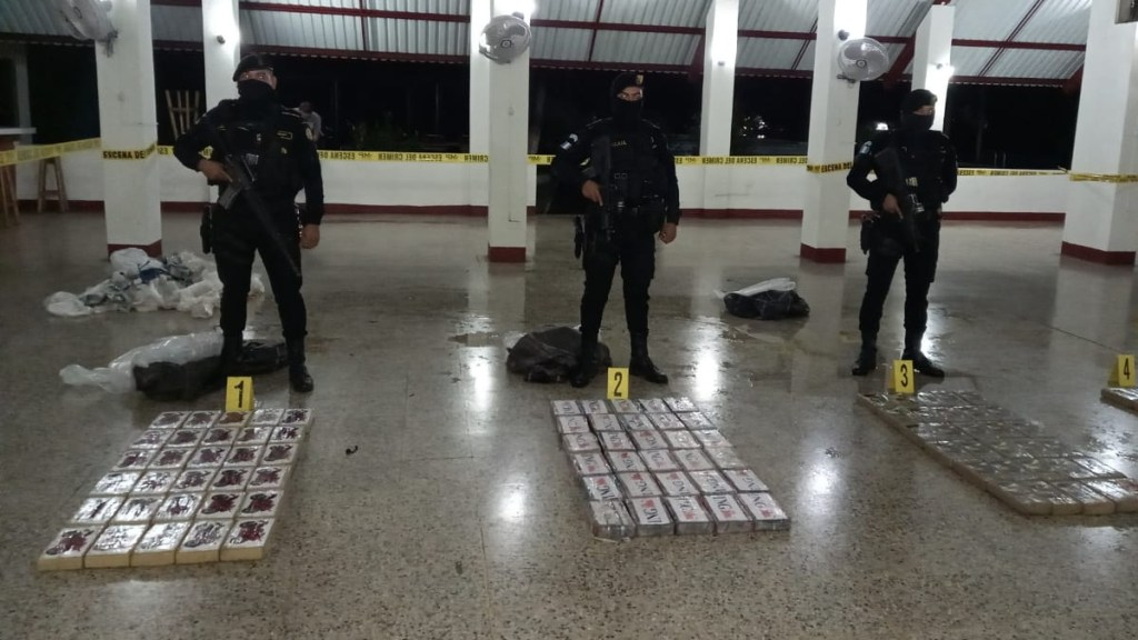 Decomisan más de 100 kilos de cocaína en Guatemala - Guatemala Escuintla cocaína
