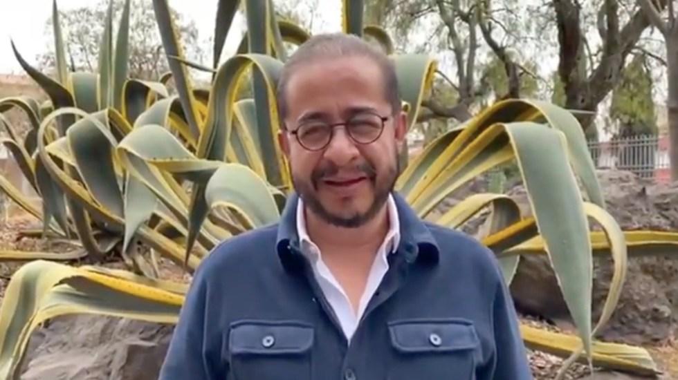 Dirigente del PES asegura que no tiene nada que ocultar tras viaje - Hugo Eric Flores Cervantes dirigente del PES. Foto tomada  de video