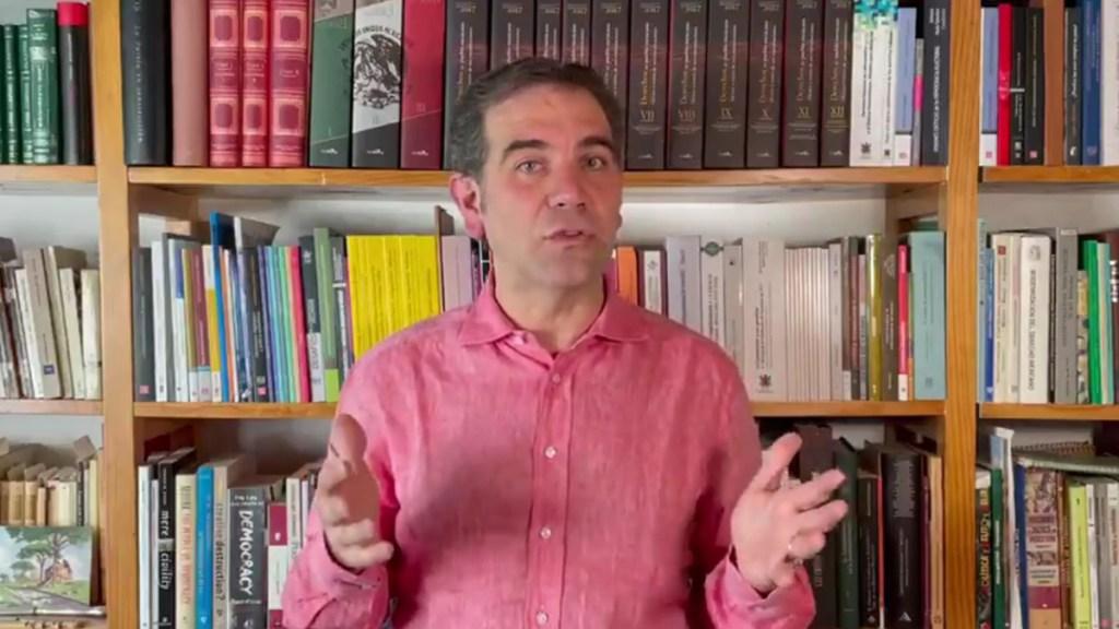 INE seguirá aplicando la ley pese a posicionamientos 'estridentes' de partidos: Lorenzo Córdova - Lorenzo Córdova, consejero presidente del INE. Captura de pantalla