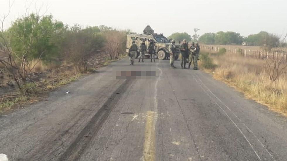 Al menos 8 muertos en Camargo por enfrentamiento entre cárteles - Militares en Camargo tras enfrentamiento entre cárteles. Foto de @fernand17704066