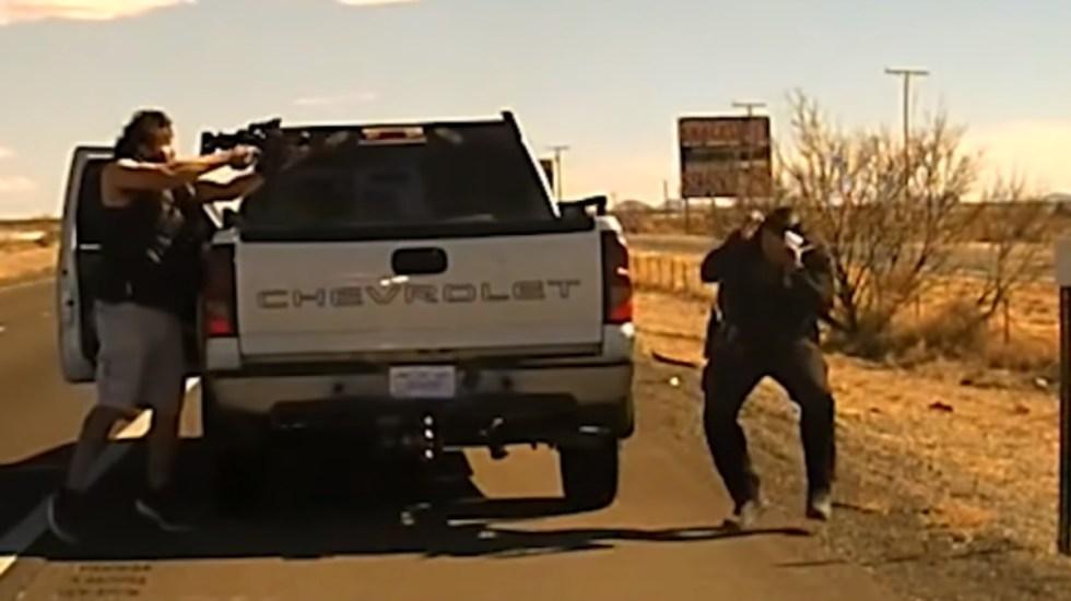 #Video Sujeto asesina a policía en Nuevo México; termina abatido - Narcotraficante disparos ataque
