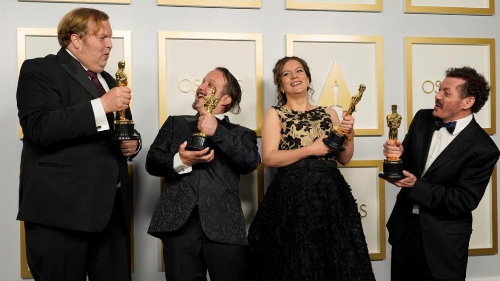 Personalidades y usuarios felicitan a mexicanos ganadores del Óscar - Oscar Sound of metal mexicanos