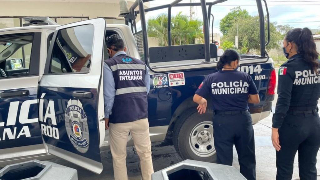 Secretaría de Seguridad de Quintana Roo asume el control en Tulum tras abusos policiales - En la foto, policías de Quintana Roo. Foto de @SSP_QROO
