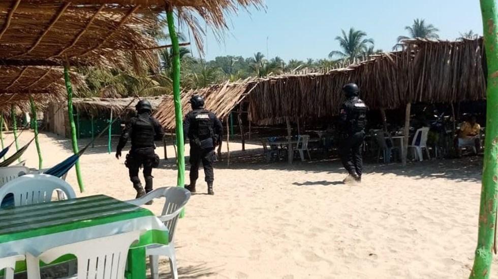 Refuerzan vigilancia en playas y carreteras de Guerrero por vacaciones de Semana Santa - Recorridos de vigilancia en playas de Acapulco, Guerrero. Foto de @sspguerrero
