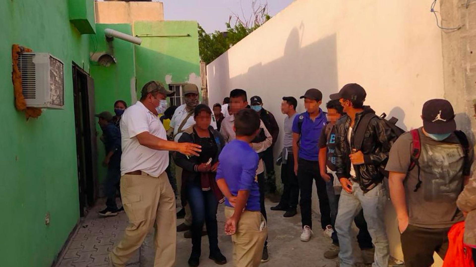 Rescatan a 17 migrantes en Reynosa. Foto de Fiscalía Tamaulipas