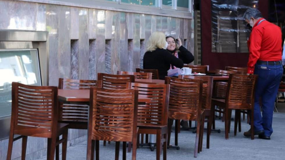 """Por décima semana consecutiva, CDMX en Semáforo Naranja; está a """"medio punto del Semáforo Amarillo"""": Sheinbaum - Restaurantes en la Ciudad de México. La capital, una semana más en Semáforo Naranja. Foto de Claudia Sheinbaum."""