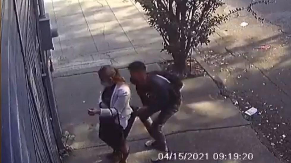 #Video Sujeto levanta falda a mujer en la Benito Juárez - Sujeto levanta falda mujer Portales Benito Juárez