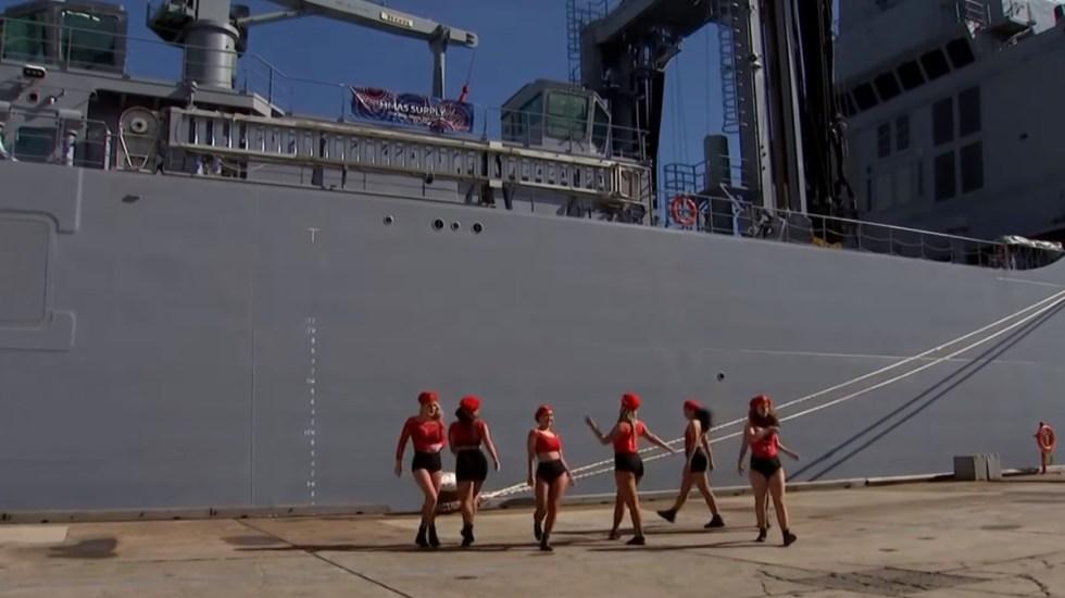 'Twerking' en ceremonia de la Armada de Australia desata polémica - Twerking Armada Australia