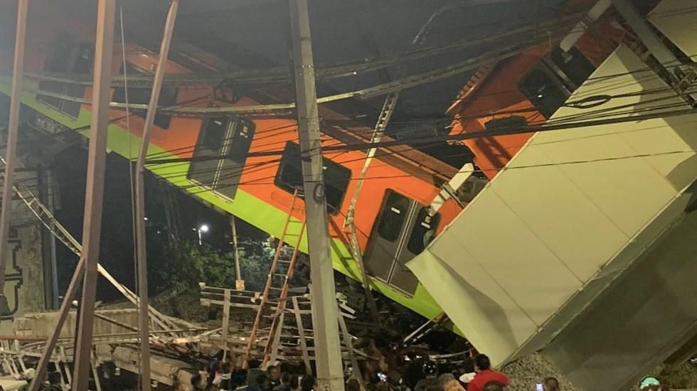 #Videos Suman 23 muertos tras colapso de estructura de la Línea 12 del Metro - Foto de @SGIRPC_CDMX