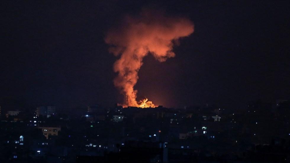 Enfrentamientos entre Gaza e Israel siguen sin tregua en su quinto día - Enfrentamientos entre Gaza e Israel siguen sin tregua en su quinto día. Foto de EFE