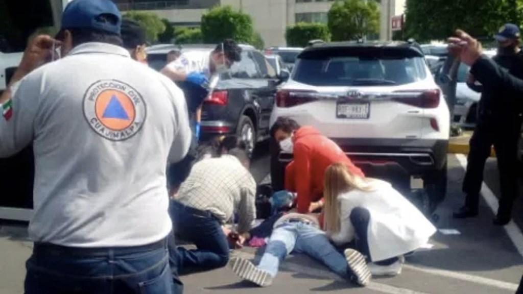 Balacera en inmediaciones de Centro Comercial Santa Fe; hay un lesionado - Balacera Plaza Santa Fe herido