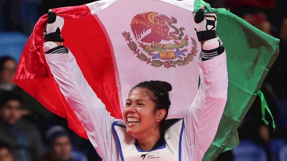 Briseida Acosta se clasifica a Tokio a expensas de María Espinoza - Foto de Archivo. Briseida Acosta celebra al ganar la medalla de oro en la competencia de taekwondo 67kg en los Juegos Panamericanos 2019 en Lima, Perú. Foto de EFE/ Martín Alipaz.