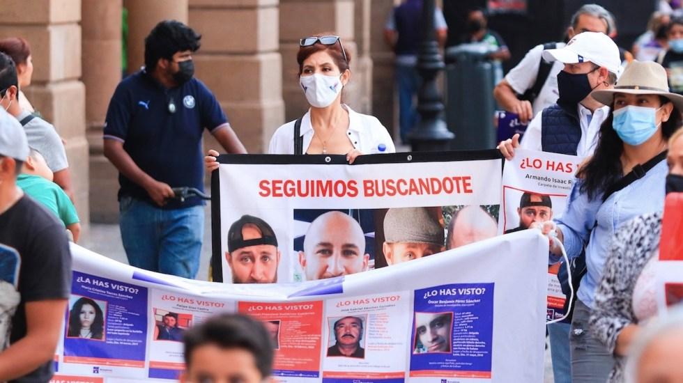 Caravana de familiares busca a desaparecidos en Guanajuato - Caravana de familiares busca a desaparecidos en estado mexicano de Guanajuato. Foto de EFE