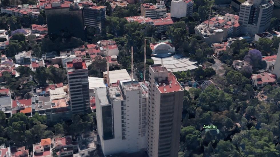 Construcciones sin control, en la alcaldía Miguel Hidalgo de Víctor Hugo Romo - Emilio Castelar 75. Foto de Google Earth