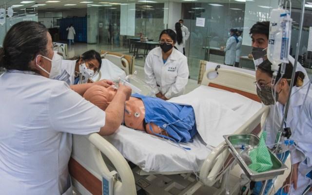 Se reanudan clases presenciales en la Escuela Nacional de Enfermería y Obstetricia de la UNAM - ENEO Enfermería UNAM alumnos clases taller