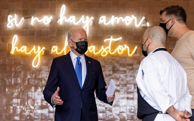 Joe Biden compra tacos y enchiladas en negocio que recibió ayuda por COVID-19 - Estados Unidos Joe Biden tacos enchiladas 2