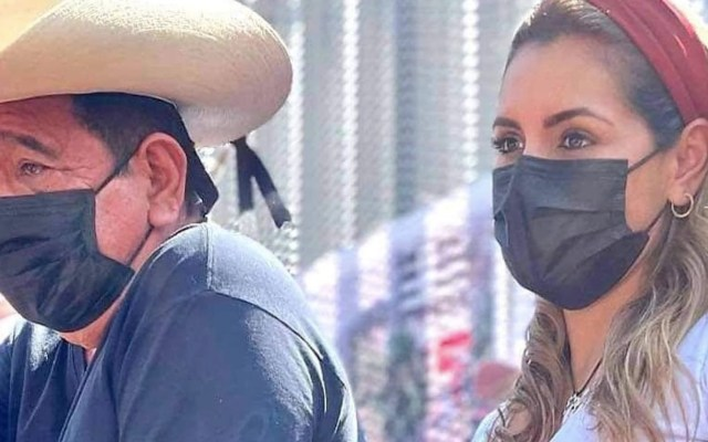 Rechaza AMLO opinar sobre la candidatura de hija de Salgado Macedonio - Evelyn y Félix Salgado. Foto de Noticieros Televisa