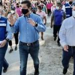 Reaparece gobernador García Cabeza de Vaca; recorre Ciudad Victoria en gira