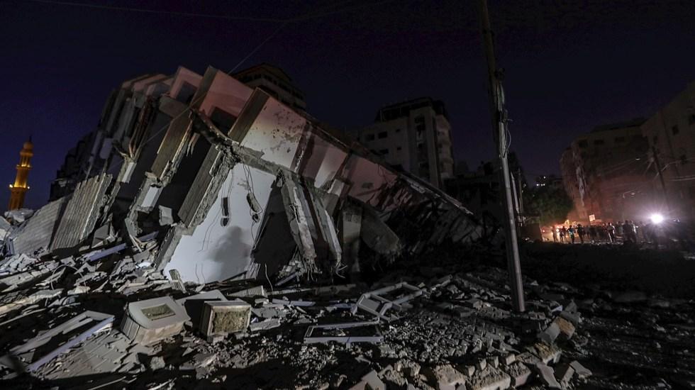 ONU advierte que Israel y Palestina van hacia una guerra a gran escala - Israel Gaza cohetes ataque inmueble