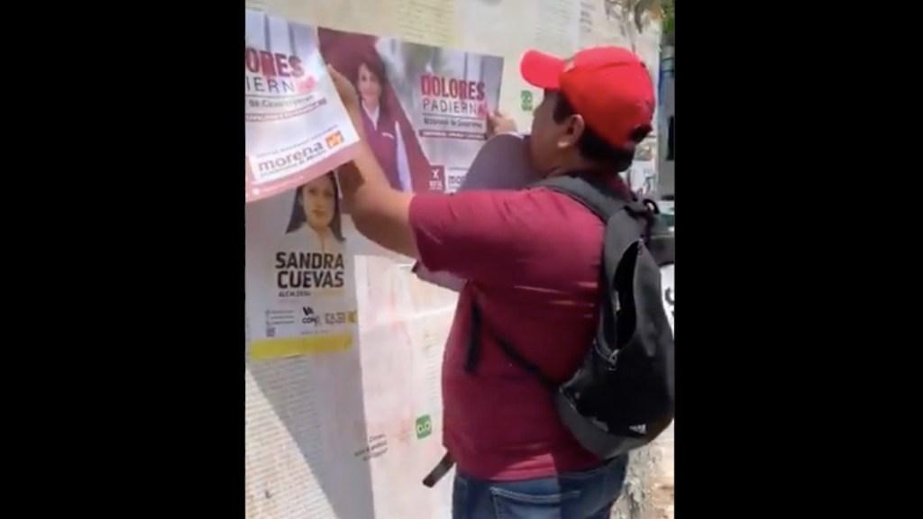 Laisha Wilkins denuncia agresión por parte de integrante de Morena - Laisha Wilkins denuncia agresión por parte de integrante de Morena. Foto tomada de video