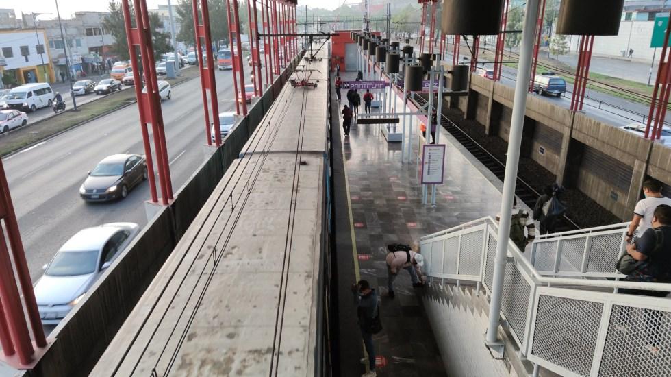 Metro reanuda servicio en toda la Línea A tras inundación en Calzada I. Zaragoza - Línea A del Metro. Foto de @VictorAmbrizAP