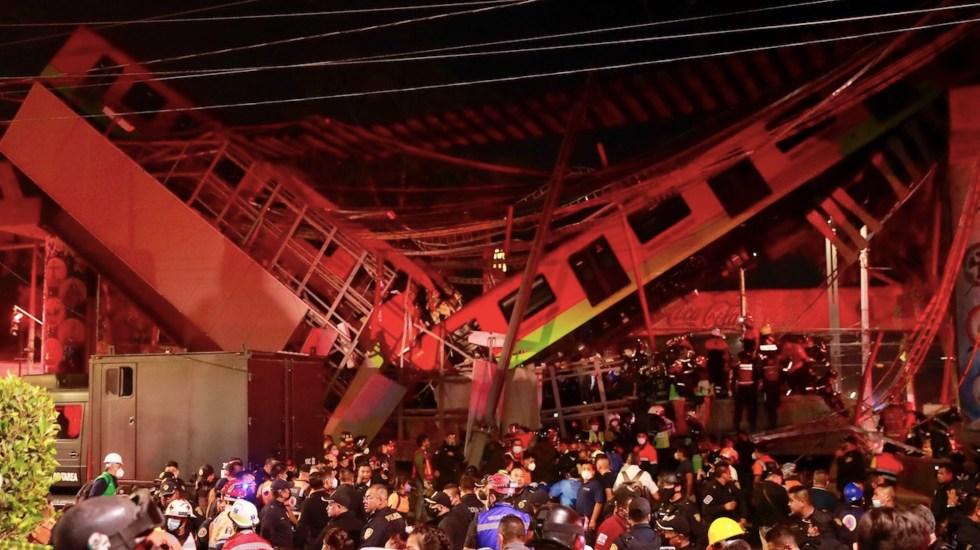 Los accidentes en la historia del Metro de la Ciudad de México - Al menos 15 muertos por desplome de trabe en la Línea 12 del Metro. Foto de EFE