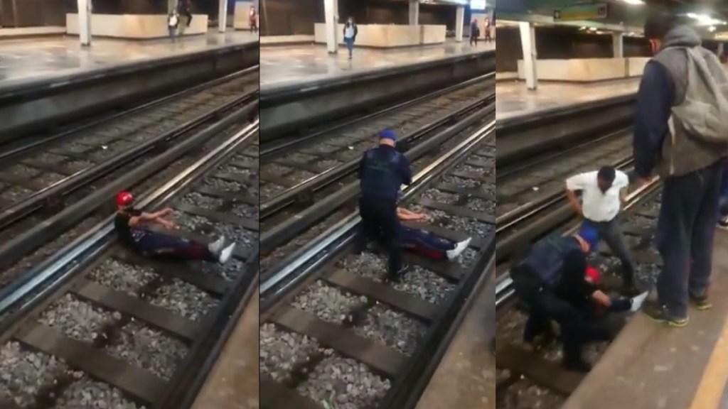 Metro caída hombre