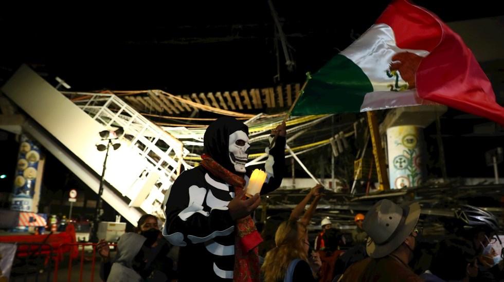 Ningún afectado por derrumbe de Línea 12 quedará desamparado: Sheimbaum - México Metro protesta vigilia