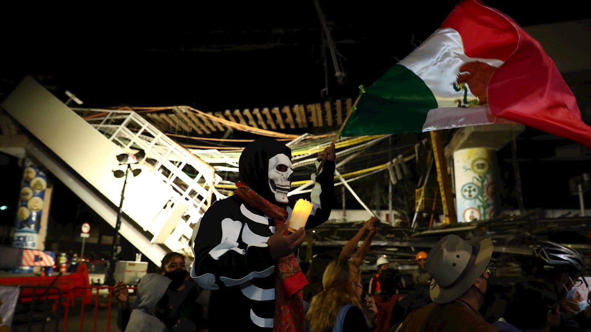 México Metro protesta vigilia
