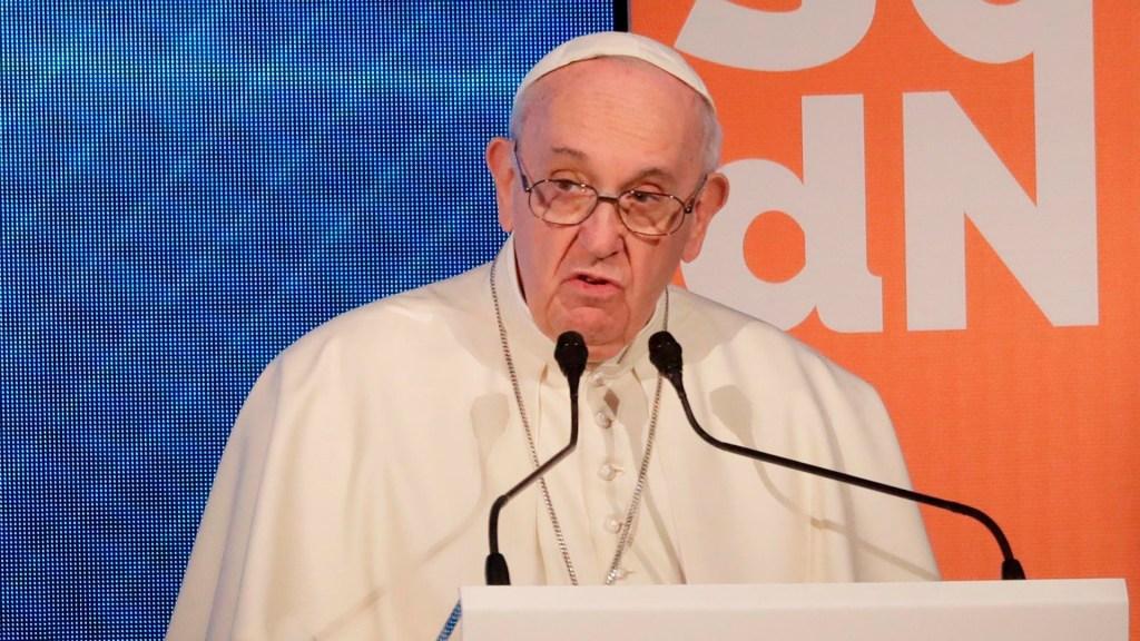 Papa Francisco critica a sacerdotes que bendicen armas - Papa Francisco durante evento público. Foto de EFE