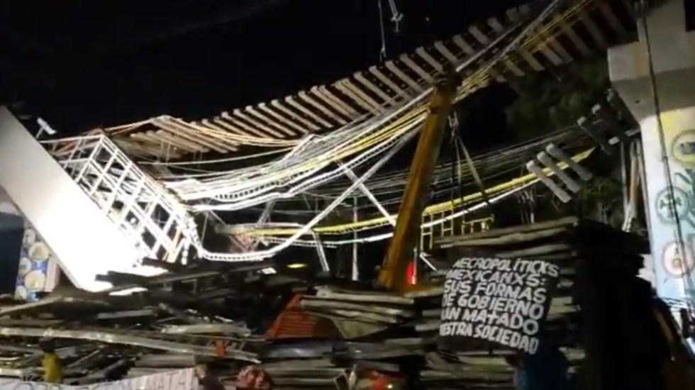 Vecinos de Tláhuac exigen justicia por los 26 muertos en desplome de Línea 12 del Metro - Protesta México Ciudad Línea 12 Metro