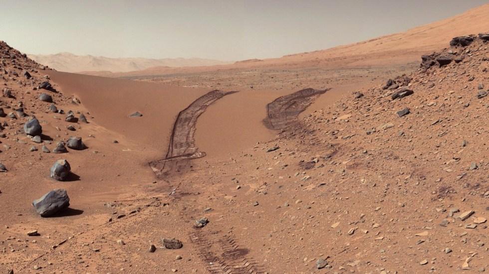 Investigan presencia de metano en atmósfera de Marte - Investigan presencia de metano en atmósfera de Marte. Foto de @MarsCuriosity