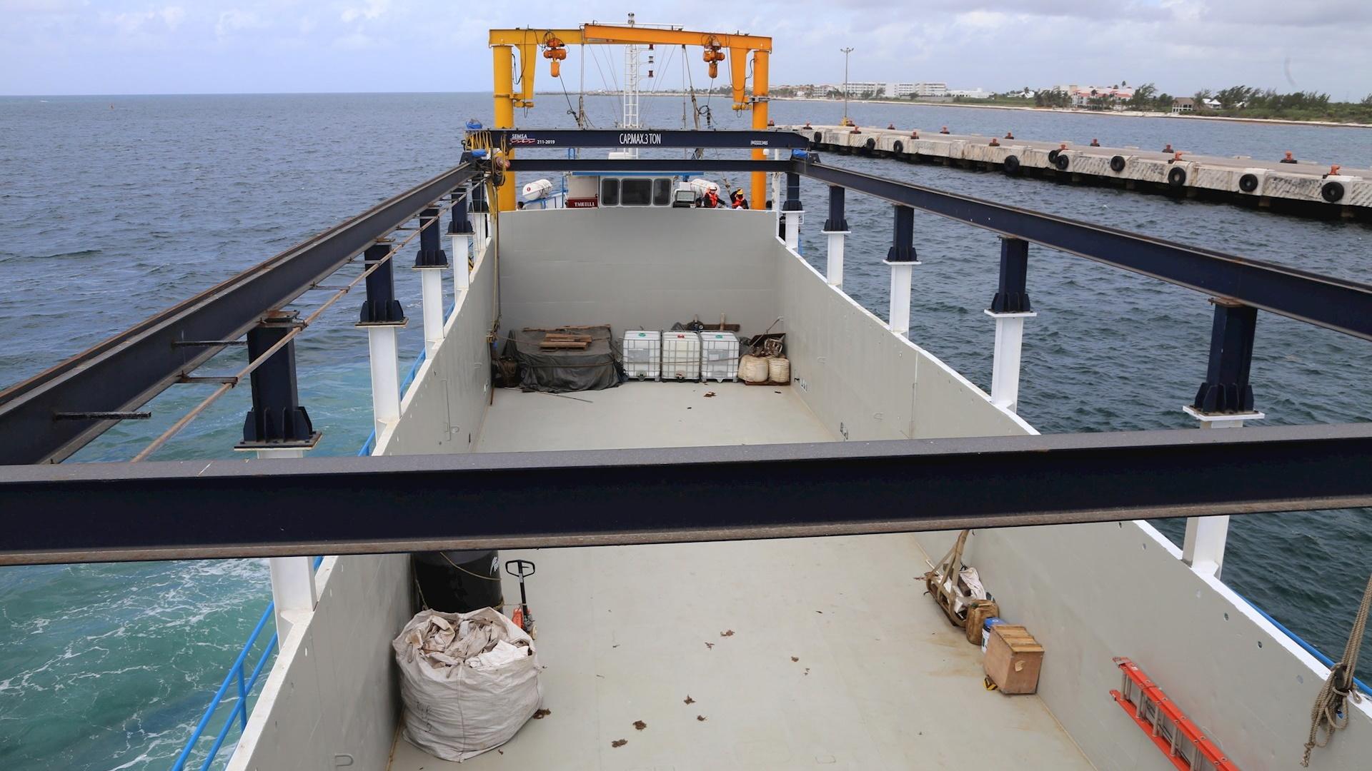 Sargazo Quintana Roo buque altamar costa 2