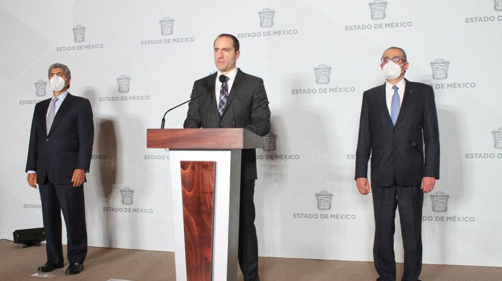 """""""En Edomex no se permitirá que se amedrente a candidatos"""", garantiza secretario de Seguridad - Secretario de Seguridad de Edomex en conferencia de prensa. Foto de Edomex Informa"""
