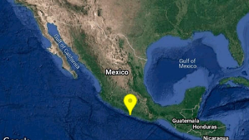 Sismo magnitud 4.8 en Guerrero, perceptible en CDMX - Sismo en Coyuca de Benitez, Guerrero. Foto de @SismologicoMX